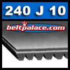 240J10 Poly-V Belt. 10PJ610 Metric belt. 24 inch (610mm) 10 rib Motor Belt.