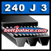 240J3 Poly-V Belt. Metric 3-PJ610 Motor Belt.