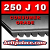 250J10 Poly-V Belt (Micro-V): Metric 10-PJ635 Motor Belt.