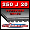 250J20 Poly-V Belt (Micro-V): Metric 20-PJ635 Motor Belt.