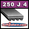 250J4 Poly-V Belt (Micro-V): Metric 4-PJ635 Motor Belt.