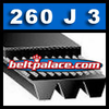 260J3 Poly-V Belt (Micro-V): Metric 3-PJ660 Motor Belt.