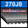 270J8 Poly-V Belt (Micro-V): Metric 8-PJ686 Motor Belt.