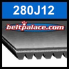 280J12 Poly-V Belt (Micro-V): Metric 12-PJ711 Motor Belt.