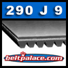 290J9 Poly-V Belt (Micro-V): Metric 9-PJ737 Motor Belt.