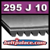 295J10 Poly-V Belt (Micro-V): Metric 10-PJ750 Motor Belt.