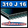 310J16 Poly-V Belt (Micro-V), Metric 16-PJ787 Drive Belt.