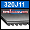 320J11 Poly-V Belt (Micro-V): Metric 11-PJ813 Motor Belt.