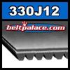 330J12 Poly-V Belt (Micro-V): Metric 12-PJ838 Motor Belt.