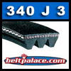 340J3 Poly-V Belt, Metric 3-PJ864 Motor Belt.