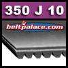 350J10 Poly-V Belt (Micro-V): Metric 10-PJ889 Motor Belt.