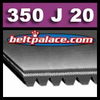 350J20 Poly-V Belt (Micro-V): Metric 20-PJ889 Motor Belt. 20 Ribs.