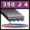 350J4 Poly-V Belt. Metric 4-PJ889 Motor Belt.