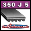 350J5 Poly-V Belt (Micro-V): Metric 5-PJ889 Motor Belt.