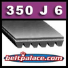350J6 Poly-V Belt (Micro-V): Metric 6-PJ889 Motor Belt.