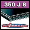 350J8 Poly-V Belt (Micro-V), Metric 8-PJ889 Motor Belt.