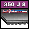 350J8 Poly-V Belt (Micro-V): Metric 8-PJ889 Motor Belt.