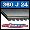 360J24 Poly-V Belt (Micro-V): Metric 24-PJ914 Motor Belt.