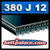 380J12 Poly-V Belt (Micro-V), Metric 12-PJ965 Drive Belt.
