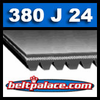 380J24 Poly-V Belt (Micro-V): Metric 24-PJ965 Motor Belt.