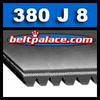 380J8 Poly-V Belt, Metric 8-PJ965 Motor Belt.