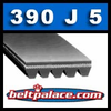 390J5 Poly-V Belt (Micro-V): Metric 5-PJ991 Motor Belt.