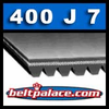 400J7 Poly-V Belt (Micro-V): Metric 7-PJ1016 Drive Belt.