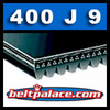 400J9 Poly-V Belt (Micro-V): Metric 9-PJ1016 Motor Belt.