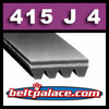 415J4 Poly-V Belt (Micro-V): Metric 4-PJ1054 Motor Belt.