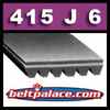 415J6 Poly-V Belt (Micro-V): Metric 6-PJ1054 Motor Belt.