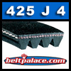 425J4 Poly-V Belt (Micro-V): Metric 4-PJ1079 Drive Belt.