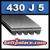 430J5 Poly-V Belt (Micro-V): Metric 5-PJ1092 Motor Belt.