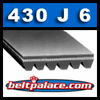 "430J6 Poly-V Belts. 43"" Length, 9/16"" Wide (6 Ribs). (Metric PJ1092 Poly-V)"