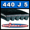 440J5 Poly-V Belt. Metric 5-PJ1118 Motor Belt.