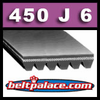 450J6 Poly V Belt. Metric PJ1143 Motor Belt.
