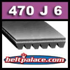 470J6 Poly-V Belt, Metric 6-PJ1194 Motor Belt.