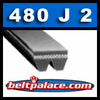 480J2 Poly-V Belt (Micro-V): Metric 2-PJ1219 Motor Belt. 48� L, 2 Ribs.