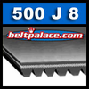 500J8 Poly-V Belt (Micro-V): Metric PJ1270 fitness Belt.