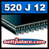 520J12 Poly-V Belt (Micro-V): Metric 12-PJ1321 Motor Belt.