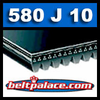 580J10 Poly-V Belt (Micro-V): Metric 10-PJ1473 Motor Belt.