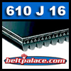 610J16 Poly-V Belt (Micro-V): Metric 16-PJ1549 Motor Belt.
