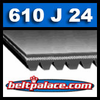 610J24 Poly-V Belt (Micro-V): Metric 24-PJ1549 Motor Belt.