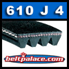 610J4 Poly-V Belt (Micro-V): Metric 4-PJ1549 Drive Belt.