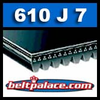 610J7 Poly-V Belt. Metric 7-PJ1549 Drive Belt.