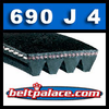 690J4 Poly-V Belt (Micro-V): Metric 4-PJ1753 Drive Belt.