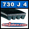 730J4 Poly-V Belt, Metric 4-PJ1854 Drive Belt.