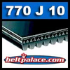 770J10 Poly-V Belt, Metric 10-PJ1956 Motor Belt.