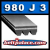 980J3 Poly-V Belt (Micro-V): Metric 3-PJ2489 Motor Belt.