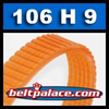 BANDO 106H 9 rib poly v belt. Polyurethane molded. Single pack.