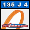 135J4 Poly-V Belt (Micro-V): Metric 4-PJ343 Drive Belt.
